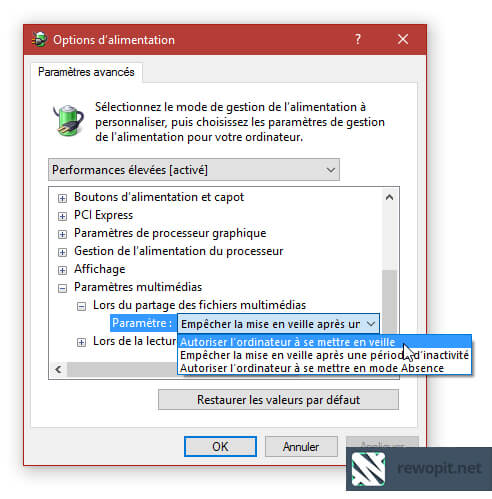 Quickie Mise en veille de Windows 10 - 2