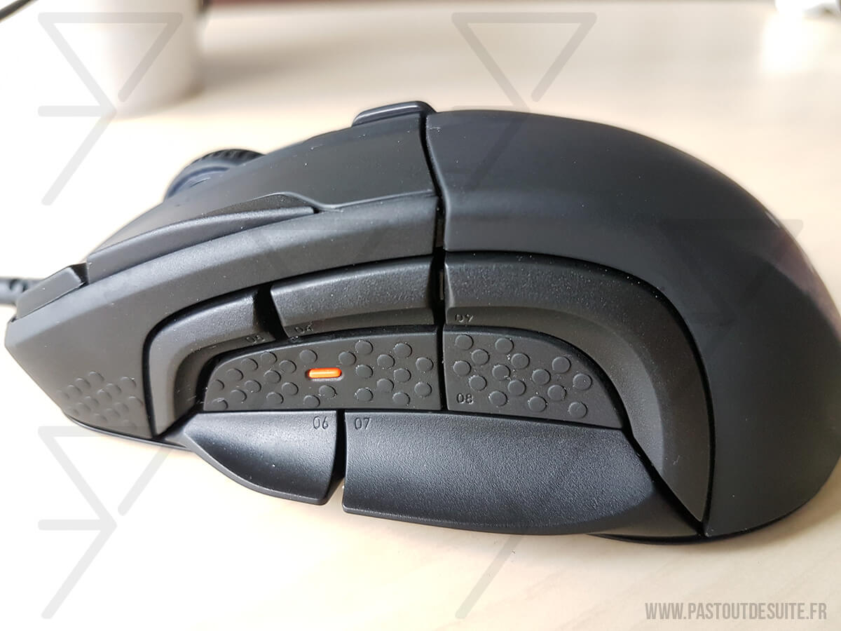 SteelSeries Rival 500 Boutons