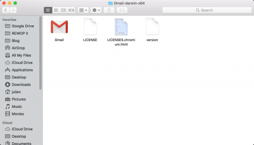 Gmail application for macbook