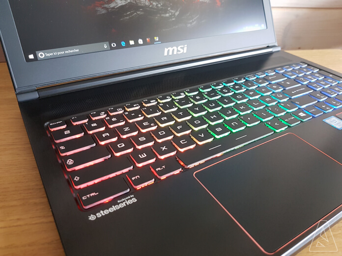 MSI GS63VR - Clavier & Touchpad